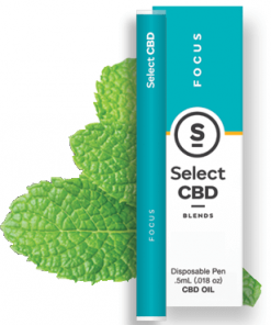 Select CBD - Focus - Peppermint - .5 ml - Disposable Vaporizer Image