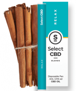 Select CBD - Relax - Cinnamon - .5 ml - Disposable Vaporizer Image