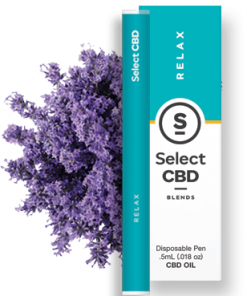 Select CBD - Relax - Lavender - .5 ml - Disposable Vaporizer Image