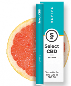 Select CBD - Revive - Grapefruit - .5 ml - Disposable Vaporizer Image