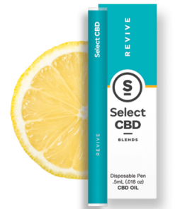 Select CBD - Revive - Lemon - .5 ml - Disposable Vaporizer Image